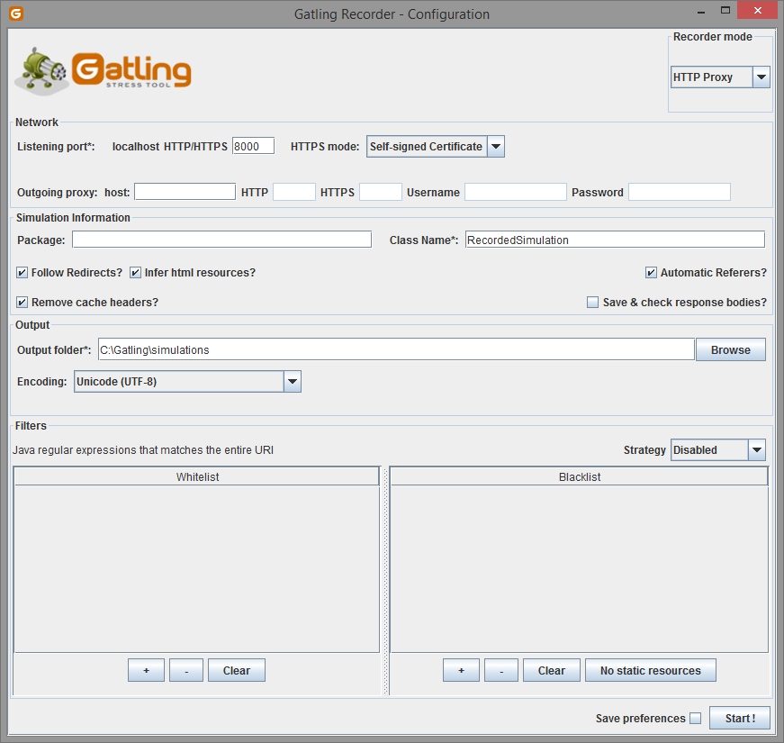 Performance testing with Gatling - record and playback